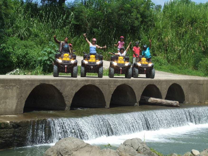 """Ride n' Wild"" 4x4 Quad Bike Tour to Zip Line & Waterfall - save $30"