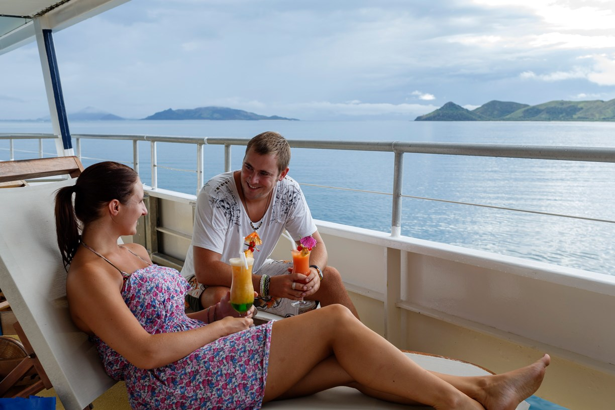 4 Night Blue Lagoon Wanderer Cruise - save up to $512 FJD on HIBISCUS CABIN per couple & get a free upgrade to the ORCHID CABIN + No Credit Card Fees