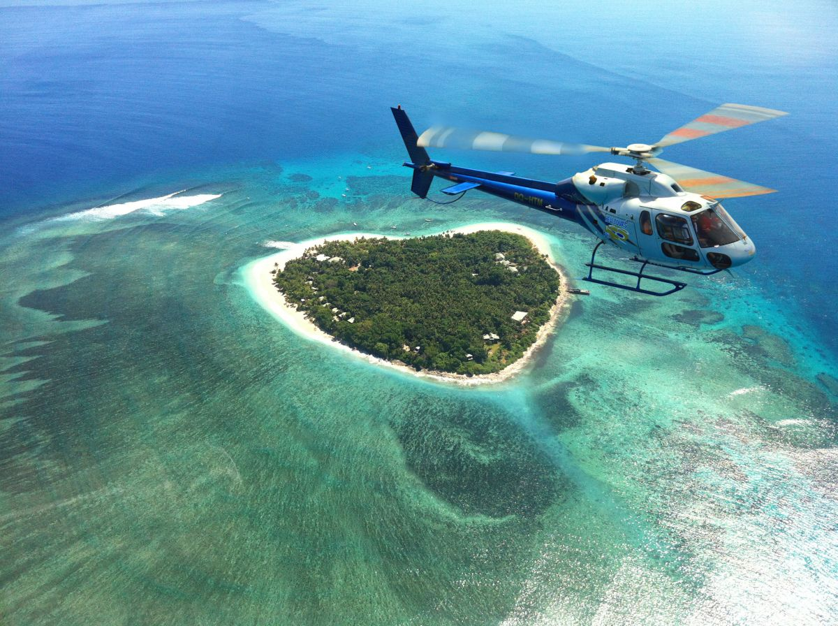 Denarau Taster 10 min Scenic Flight by Helicopter (Heli-Tours)
