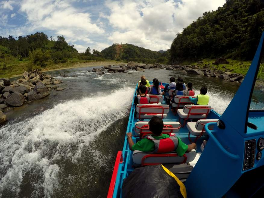 Fiji Jet Boating Adventure including huge waterfall, village visit & river rafting